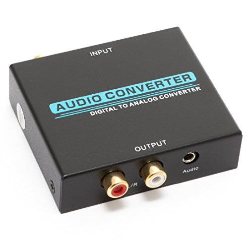 Voygon Premium Digital (Coax & Optical Toslink S/PDIF) to Analog (L/R RCA) Audio Converter DAC DAAC, with 3.5mm Jack (VGDACP)