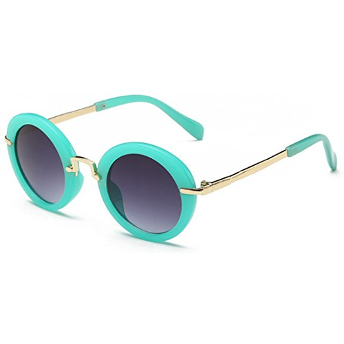 Sunglasses Verde Round Sun Protección Sun UV Frame New Glasses Gelatina Eyes Fashion Children's Yefree OPABx