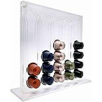 Suporte Porta Capsulas Nespresso em Acrílico Transparente Para 50 cápsulas