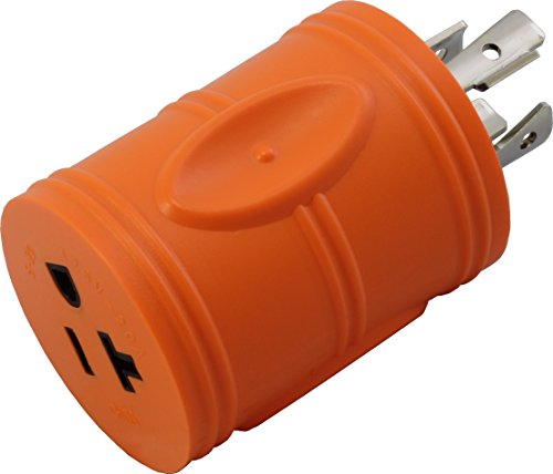 AC Connectors [ADL1420520] Locking Adapter L14-20P 20A 125/250Volt 4Prong Male Plug to 5-15/20R Regular Household 15/20Amp Female Connector 20a Ac Adapter