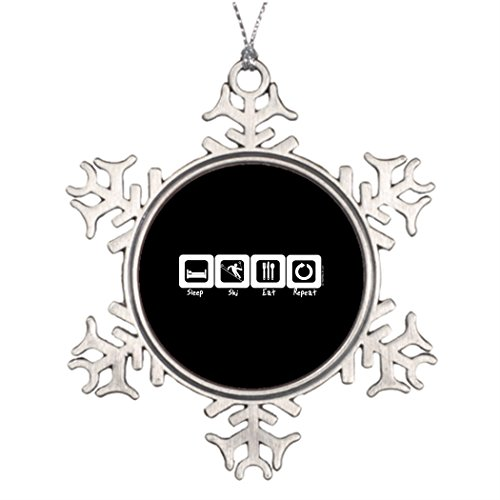 Moc Moc Best Friend Snowflake Ornaments Sleep Ski Eat Repeat Christmas Tree Snowflake Ornaments Picture Snowflake Ornaments