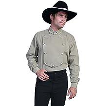 Scully Brushed Twill Cotton Bib Large Mens Shirt - Tan