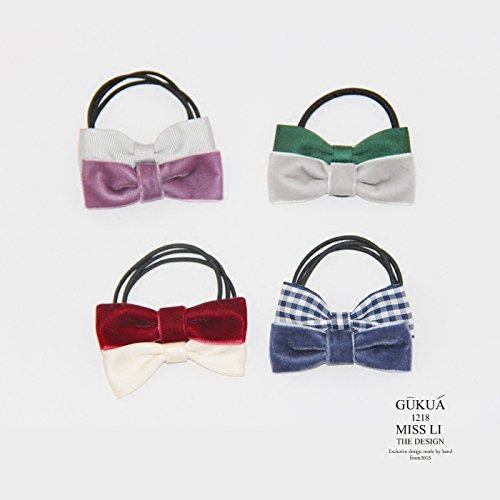 usongs 137 pairs lattice velvet bow hair ring head rope hair jewelry bracelets simple manual