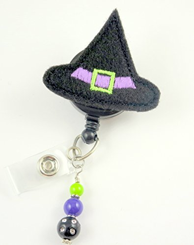 Halloween Witches Hat - Nurse Badge Reel - Retractable ID Badge Holder - Nurse Badge - Badge Clip - Badge Reels - Pediatric - RN - Name Badge Holder
