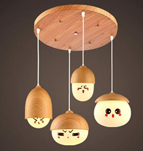 DGS Wooden Lron Glass Nuts Chandelier Restaurant Creative Personality Bar Taipei Modern Minimalist Art Meal Hanging Lamps