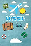 Russia: Travel Journal Notebook 120 Pages lined 6x9 Vacation Trip Planner Travel Diary Farewell Gift Holiday Planner