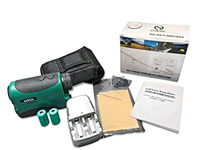 Ranges Finder - Hunting and Golf Course Range Finder Bundle - Laser Rangefinder - Batteries & Charger Included - Accurate Measurements Within +/- 1 Yard of Target - Oskiie PRO600 from Oskiie