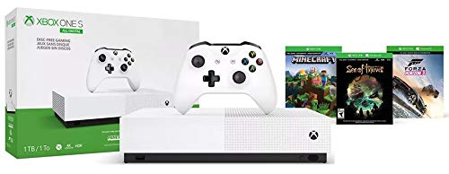 Microsoft – Xbox One S 2TB Solid State Hybrid Drive (SSHD) All-Digital Edition Console – Free Minecraft, Forza Horizon 3 and Sea of Thieves Games