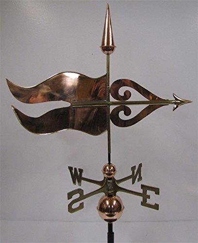 East Coast Weathervanes and Cupolas Chester Banner Weathervane Polished Copper