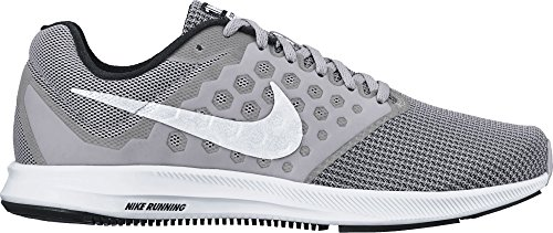Nike Downshifter 7 Wolf Grey/White/Black Mens Running Shoes