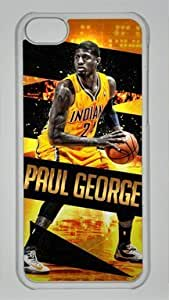diy phone caseNBA Indiana Pacers #24 Paul George Custom PC Transparent Case for iphone 6 4.7 inchdiy phone case