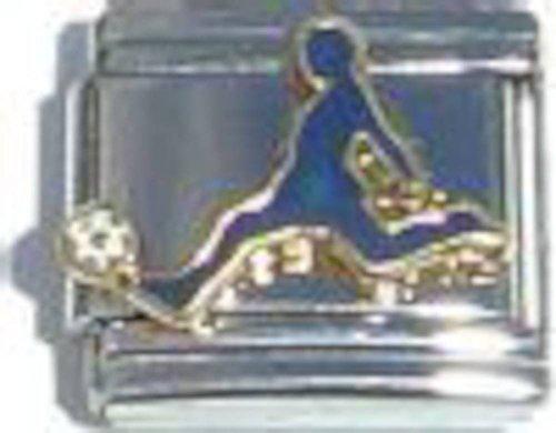 Soccer Player Italian Charm (Italian Soccer Gold Ball)