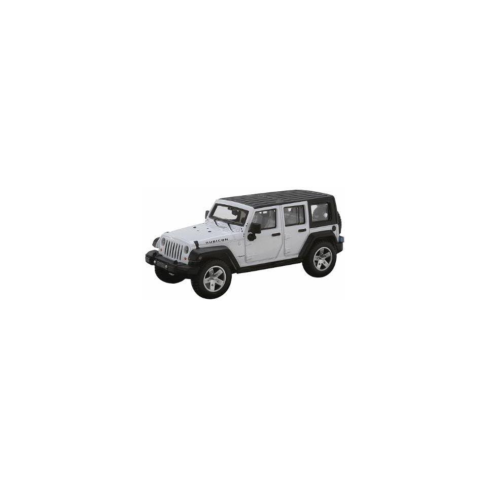 HO 2007 Jeep Wrangler 4 Door Unlimited (White) Atlas Trains
