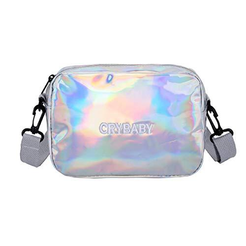 Vielgluck_Bag Woman Crossbody Bag Saddle Shoulder Bag Small, Laser Messenger Bag Waterproof Lightweight Shouder Bag for Travel Shopping