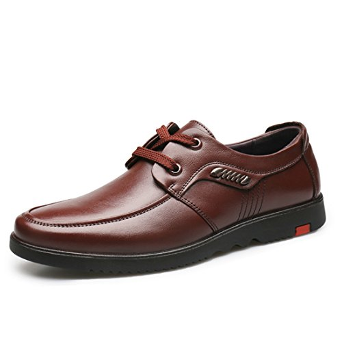 Chaussures Décontractées Pour Hommes À Lacets Classiques En Cuir Multicolore Vintage 882 Marron