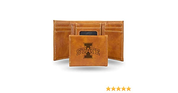 Iowa Hawkeyes NCAA Rico Industries  Laser Engraved Trifold Wallet