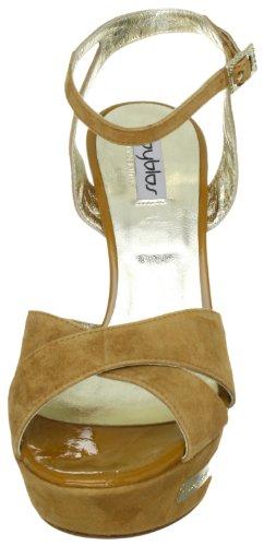 Byblos GAGA CXA7823 - Sandalias de vestir de ante para mujer Marrón