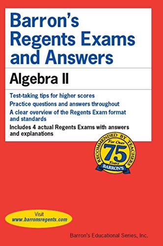 Pdf Math Barron's Regents Exams and Answers: Algebra II (Barron's Regents NY)