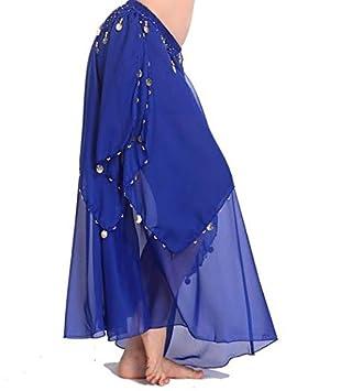 peiwen Falda de la Danza del Vientre de la India, Blue: Amazon.es ...
