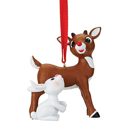 h Christmas Rudolph And Bunny Hanging Ornament (Reindeer Hanging Ornament)