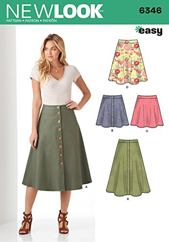 Simplicity Vintage New Look Patterns UN6346A Misses' Easy Skirts, A ()