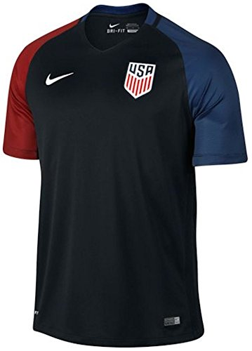 Nike Youth United States Away Stadium Soccer Jersey (Black) (State Nike Jersey)