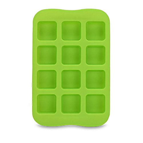 (Vanvler 12 Ice Cube Tray Silicone Freeze Mould Bar Pudding Jelly Chocolate Maker (C Square))