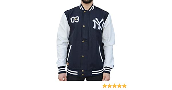 A NEW ERA Ne90102fa16 CT Letterman Neyyan Chaqueta-Línea York Yankees, Hombre