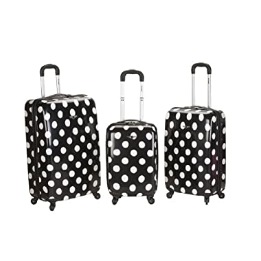 Rockland 3 Piece Laguna Beach Upright Luggage Set