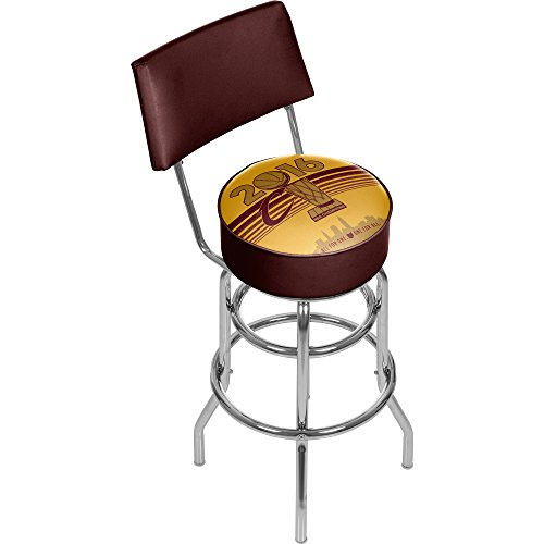 NBA Cleveland Cavaliers 2016 Chamipons Chrome bar Stool with Back, Wine/Gold, One Size by Trademark Global
