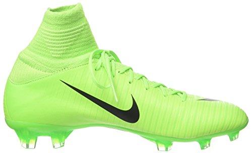 NIKE Kids Mercurial Superfly V FG Electric Green/Black/Flash Lime Soccer Shoes - 4Y - Image 6