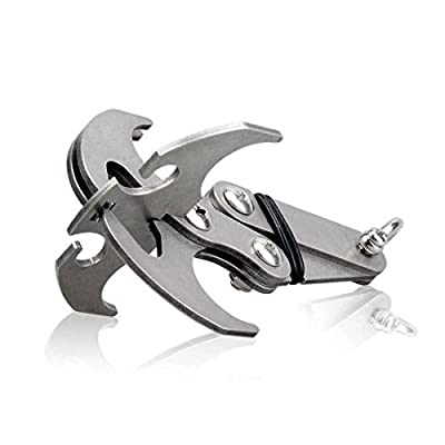 Multifunctional Stainless Steel Gravity Hook, Survival Folding Grappling Hook Climbing Claw, Gravity Carabiner with Magnetic Iron for Outdoor Life from Smiley
