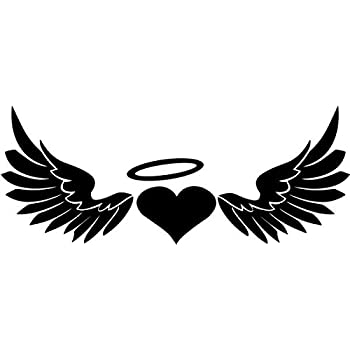 Amazon.com: Heart Angel Wings Halo Vinyl Decal Sticker ... Angel Wings Heart Halo