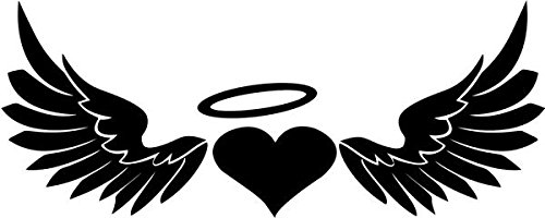 Heart Angel Wings Halo Vinyl Decal Sticker Bumper Car Truck Window- 8