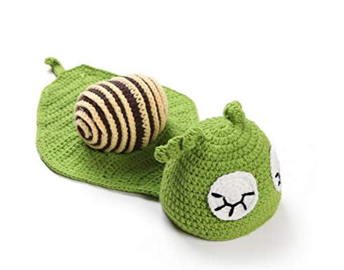 Newborn Unisex-Baby Snail Costume, Infant Cosplay Outfit Hand-Knitted Photography Props (0-3 Months) -