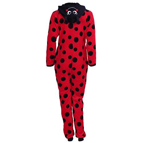 Marienkäfer Ganzkörper Schlafanzug Schlafoverall Onesie Einteiler Hausanzug rot