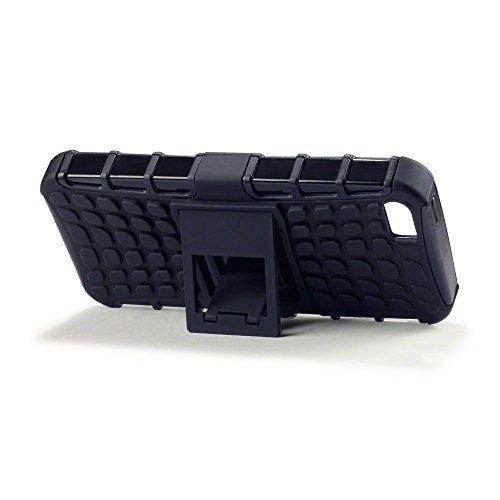 Deet® Apple iPhone 5/5S Noir Étui de protection arrière rigide robuste résistant aux chocs.