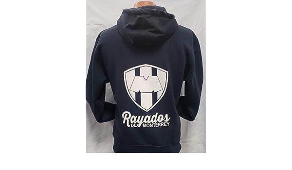 Club Rayados de Monterrey Sudadedra de Cierre De Gorro Hoodie Size L : Sports & Outdoors