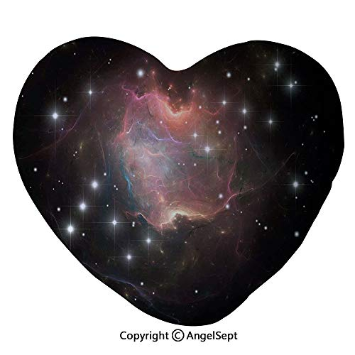 AngelSept 45x50cm Heart Shape Decorative Throw Pillow Deep Down in Outer Space Complex Supernova Phenomenal Dynamic Universe Image PP Cotton Soft Creative Lover Gift,Multicolor