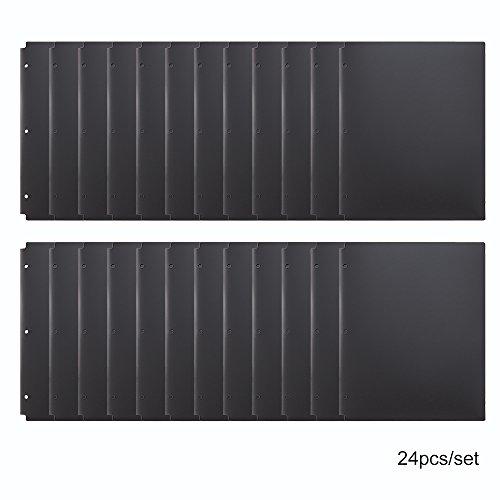 - Comix Pocket Folder,2 Pocket Letter Size Poly File Portfolio Folder with 3-Hole Punch - 24 Pack (A2140) (Black)