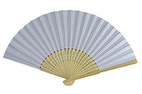 Rippen Teil Geschenkanh/änger aus Bambus elegantes Handf/ächer Kunstseide Papier Handf/ächer 10 St/ück