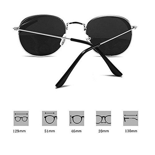 Metal Glasses Casual Gafas Round Sol Marine De Sol Frame Hombre E F Blinding Reflective GUOHONGCX Mujer Rana Big Y Trend Colorful De Espejo Gafas Cycling Ox70I