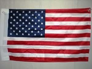 """USA 8""""x12"""" Double Sided Knit Nylon Car Flag With Sleeve"""