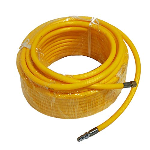 HPDAVV 328 feet Hose for Diving Compressor with Connect,PVC Air Hose,Clamp Joint,M101,Long-Lasting Life,300 PSI,Air Compressor Accessories,Extreme All-Weather Flexibility
