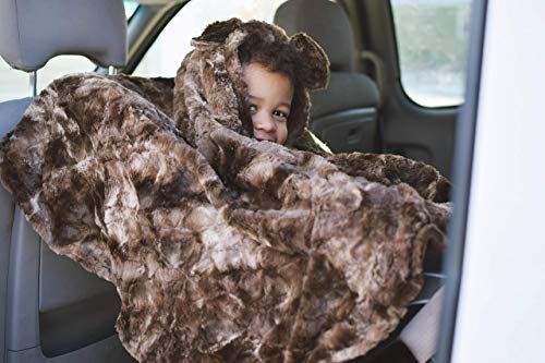 Teddy bear minky car seat poncho - carseat poncho - car seat cape - infant poncho - toddler poncho