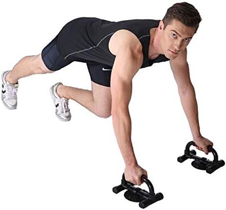 アップバーを押してください フィットネスプッシュアップバー腕立て伏せは、スタンドを立ちバー、使用さへの課題ハンド胸の筋肉、運動療法では、自宅やジムスタンド 快適 (Color : Black)