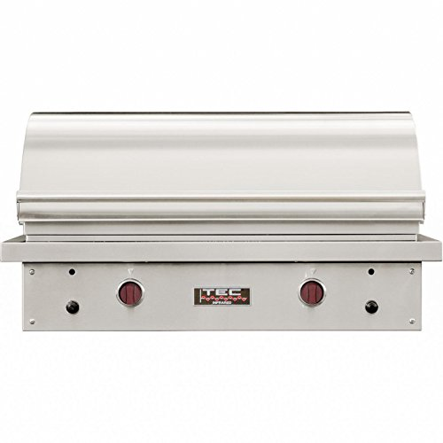 Tec Sterling Patio Fr 44-inch Built-in Infrared Natural Gas Grill W/ Red Knobs