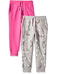 Spotted Zebra girls 2-Pack Fleece Jogger Pants Sweatpants