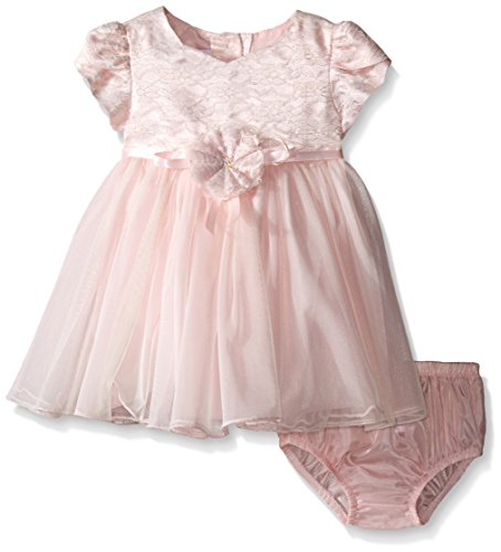 Bonnie Baby Girls' Short Sleeve Ballerina Party Dress wit...