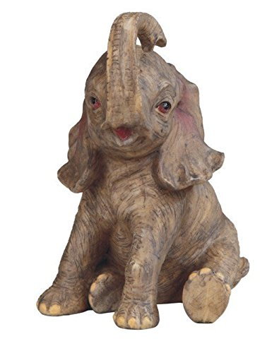 StealStreet SS-G-54463 Grey Happily Sitting Left Baby African Elephant Collectible (African Mammoth)